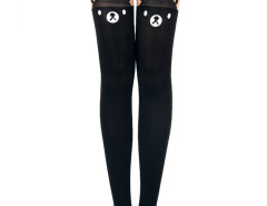 30 Denier Tights with Cute Bear Over The Knee Choies.com online fashion store United Kingdom Europe