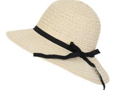 Beige Contrast Belt Embellished Straw Beach Hat Choies.com online fashion store United Kingdom Europe