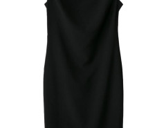 Black Crew Neck Midi Pencil Dress Choies.com online fashion store United Kingdom Europe