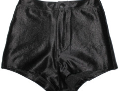 Black High Waisted Disco Shorts Choies.com online fashion store United Kingdom Europe