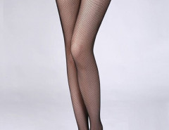 Black Illusion Fishnet Tights Choies.com online fashion store United Kingdom Europe