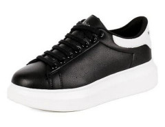 Black Lace Up Contrast Branded Platform Trainers Choies.com online fashion store United Kingdom Europe