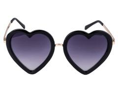 Black Metal Bridge Heart Sunglasses Choies.com online fashion store United Kingdom Europe