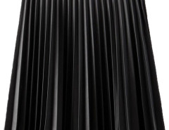 Black PU High Waist Pleat Skirt Choies.com online fashion store United Kingdom Europe