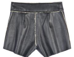 Black PU Panel High Waist Shorts Choies.com online fashion store United Kingdom Europe