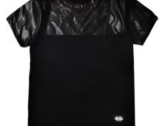 Black PU Unisex T-shirt Choies.com online fashion store United Kingdom Europe