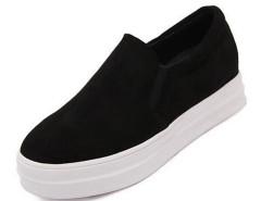 Black Round Closed Suedette Flat Shoes Choies.com online fashion store United Kingdom Europe