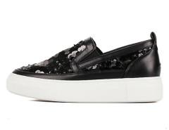 Black Sequins Platform Slip-on Sneakers Choies.com online fashion store United Kingdom Europe