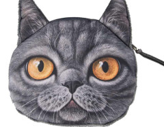 Black Shorthair Coin Purse Choies.com online fashion store United Kingdom Europe