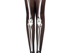 Black Skeleton Print 20 Denier Tights Choies.com online fashion store United Kingdom Europe