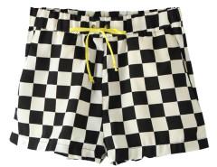 Black and White Plaid Shorts Choies.com online fashion store United Kingdom Europe