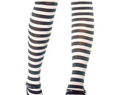 Black and White Stripes Over the Knee Stocking Choies.com online fashion store United Kingdom Europe