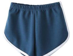 Blue Elastic Waist Sport Shorts Choies.com online fashion store United Kingdom Europe