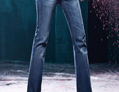 Blue Flare Denim Skinny Jeans Choies.com online fashion store United Kingdom Europe