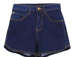 Blue High Waist Denim Shorts Choies.com online fashion store United Kingdom Europe