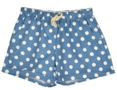 Blue Shorts With White Dot Print Choies.com online fashion store United Kingdom Europe