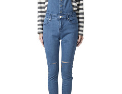 Blue Skinny Denim Overalls Choies.com online fashion store United Kingdom Europe