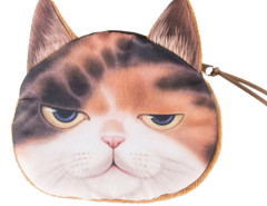Chocolate Sleepy Panel Garfield Cat Coin Purse Choies.com online fashion store United Kingdom Europe