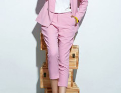 Choies Limited Edition Pink Blazer With Slim Ninth Pants Choies.com online fashion store United Kingdom Europe