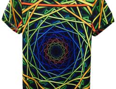 Colorful 3D Unisex Geometric Short Sleeve T-shirt Choies.com online fashion store United Kingdom Europe