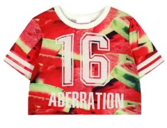Cute Watermelon T-shirt With NO.16 Choies.com online fashion store United Kingdom Europe