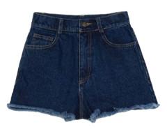 Deep Blue Trim Fringe Denim Shorts Choies.com online fashion store United Kingdom Europe