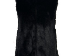 Faux Fur Waistcoat in Black Choies.com online fashion store United Kingdom Europe
