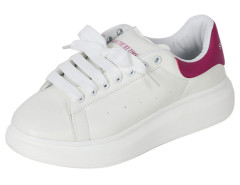 Fuchsia And White Letter Print Lace Up Platform Shoes Choies.com online fashion store United Kingdom Europe
