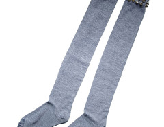 Gray Rivet Stocking Choies.com online fashion store United Kingdom Europe