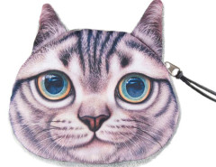 Gray Shorthair Coin Purse Choies.com online fashion store United Kingdom Europe
