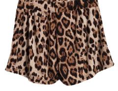 Leopard Print Loose Shorts Choies.com online fashion store United Kingdom Europe