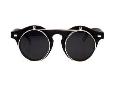 Matte Black Flip Up Sunglasses Choies.com online fashion store United Kingdom Europe