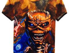 Multicolor 3D Unisex Evil And Angel Print T-shirt Choies.com online fashion store United Kingdom Europe