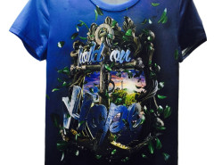 Multicolor 3D Unisex HOLD ON HOPE Anchor Print T-shirt Choies.com online fashion store United Kingdom Europe
