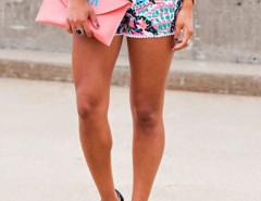 Multicolor Dots Print Elastic Waist Pom Pom Shorts Choies.com online fashion store United Kingdom Europe