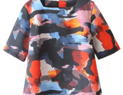 Multicolor Painting Short Sleeve T-shirt Choies.com online fashion store United Kingdom Europe