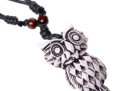Multirow Cord Owl Pendant Necklace Choies.com online fashion store United Kingdom Europe