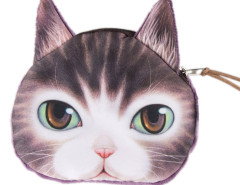 Purple Green Eyes Pink Nose Ocicat Coin Purse Choies.com online fashion store United Kingdom Europe