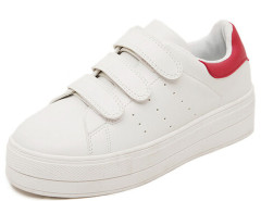 Red Color Block Velcro Strap Grid Thread Detail Trainers Choies.com online fashion store United Kingdom Europe