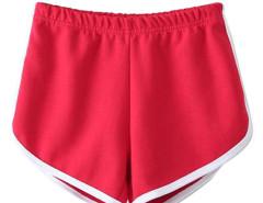 Red Elastic Waist Sport Shorts Choies.com online fashion store United Kingdom Europe