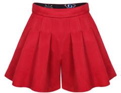 Red High Waist Skort Choies.com online fashion store United Kingdom Europe