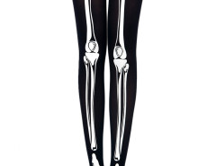 Skeleton Print 80 Denier Velvet Tights Choies.com online fashion store United Kingdom Europe