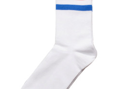 Stripe Ankle Socks in White Choies.com online fashion store United Kingdom Europe