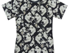 Unisex 3D T-shirt With Funny Huskie Print Choies.com online fashion store United Kingdom Europe