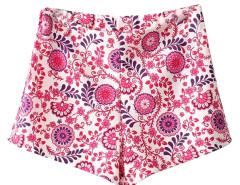 Vintage Floral Print Shorts Choies.com online fashion store United Kingdom Europe