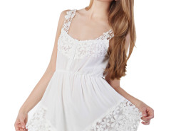 White Angel Lace Hem Romper Playsuit Choies.com online fashion store United Kingdom Europe