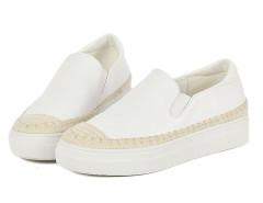 White Contrast PU Platform Slip-on Sneakers Choies.com online fashion store United Kingdom Europe