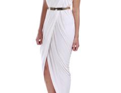 White Wrap Sexy Dress With Belt Choies.com online fashion store United Kingdom Europe