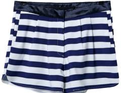White and Balck Stripe Shorts Choies.com online fashion store United Kingdom Europe