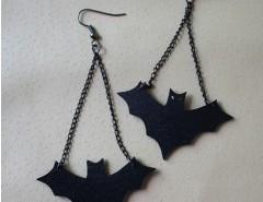 Cable Chain Bat Pendant Earrings Chicnova online fashion store China